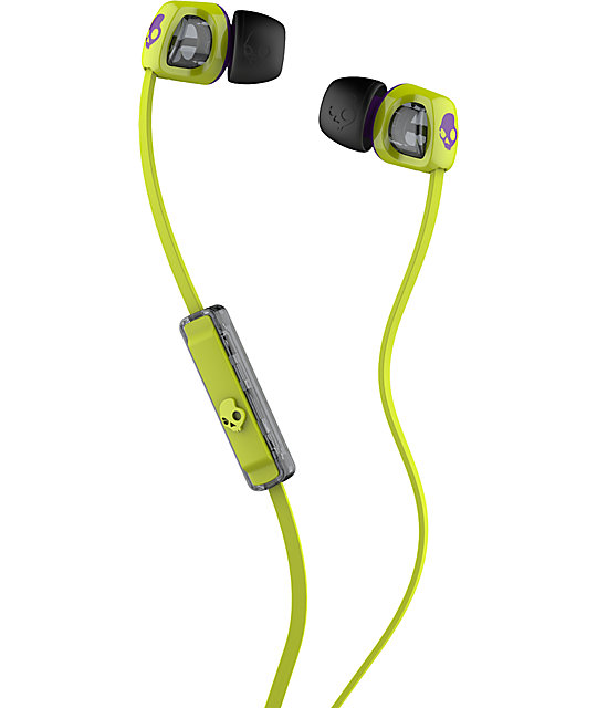 Skullcandy Smokin Buds 2 Lime & Purple Earbuds
