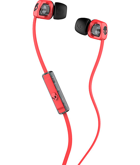 Skullcandy Smokin Buds 2 Red & Black Earbuds