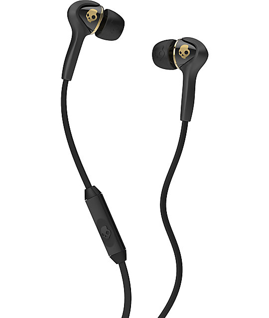 Skullcandy Smokin Buds Micd Black & Gold Earbuds