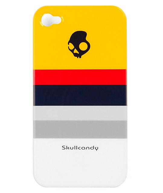 Skullcandy Yellow Stripe Clip-On iPhone 4 Case