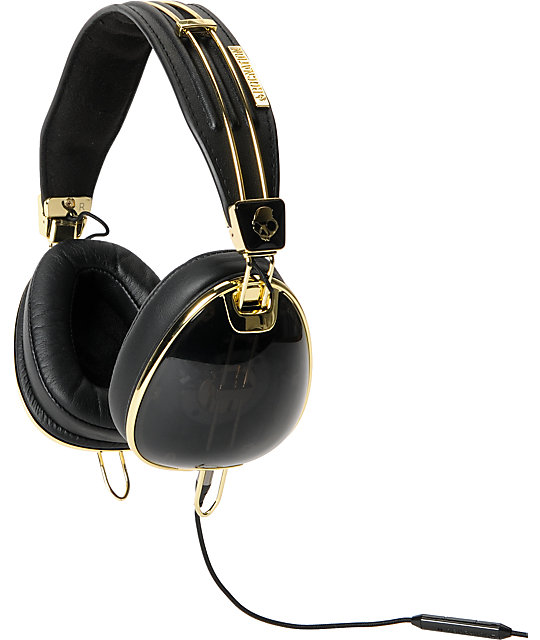 black and gold aviators  Skullcandy x Roc Nation Aviator LTD Black \u0026 Gold Headphones at ...
