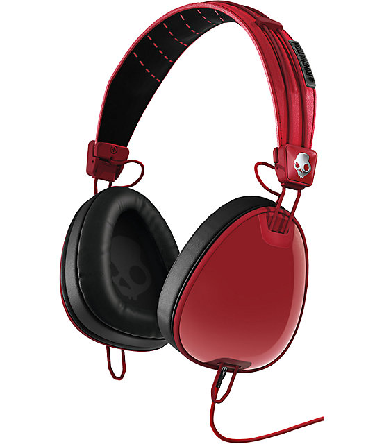 Skullcandy x Roc Nation Aviator Micd Red Headphones