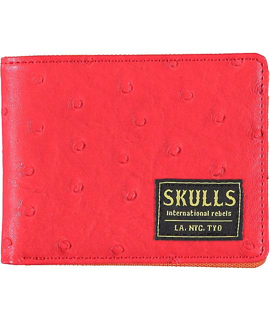 Skulls Stanley Red Bifold Wallet