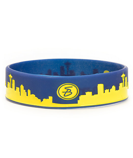 Skybands Seattle Skyband Blue & Yellow Bracelet