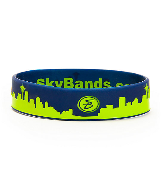 Skybands Seattle Skyband Navy & Electric Green Bracelet