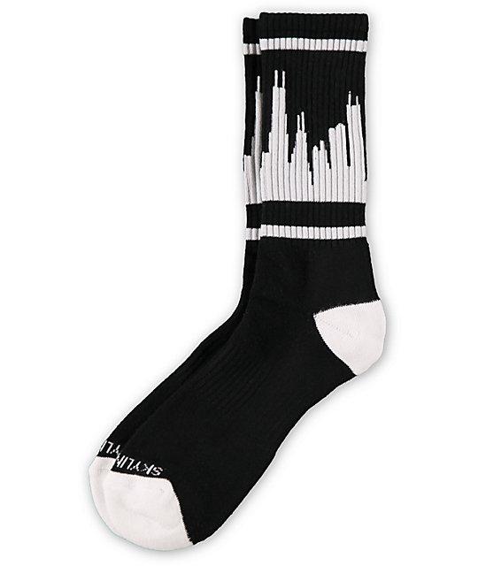 Skyline Classic City Chicago Black & White Socks
