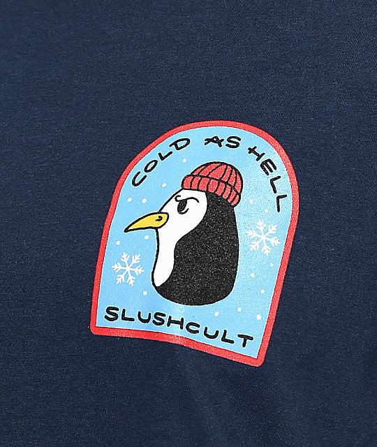 Slushcult Cold As Hell Navy T-Shirt