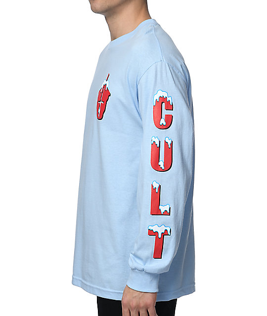 Slushcult Ice Box Light Blue Long Sleeve T-Shirt