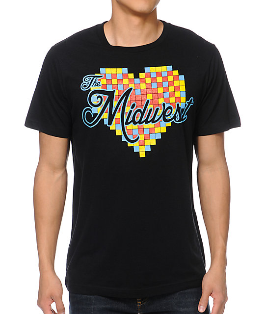 So-Gnar Love The Midwest Black T-Shirt