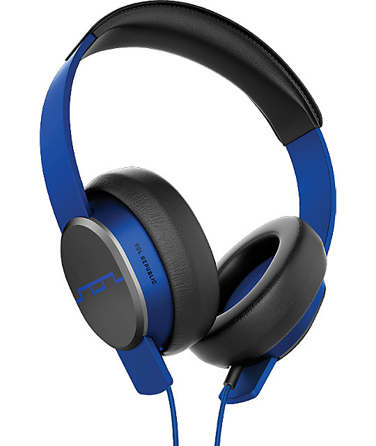 Sol Republic Master Tracks Blue Over Ear Headphones