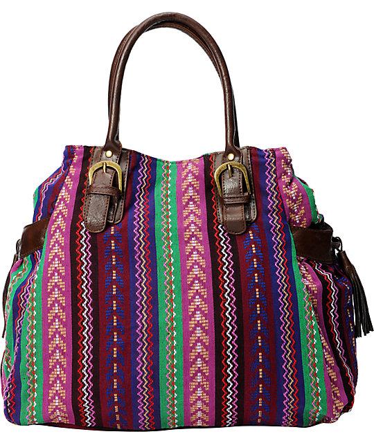 Southwest Purple Print Tote Bag