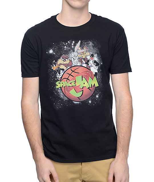 Space Jam Galactic Black T-Shirt at Zumiez : PDP