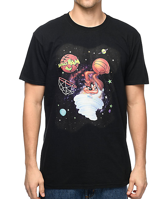 Space Jam Taz Dunk Black T-Shirt