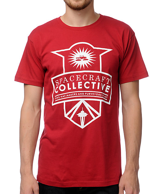 Spacecraft Badge Red T-Shirt