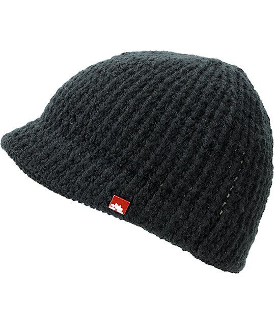 Spacecraft Brim Black Visor Beanie