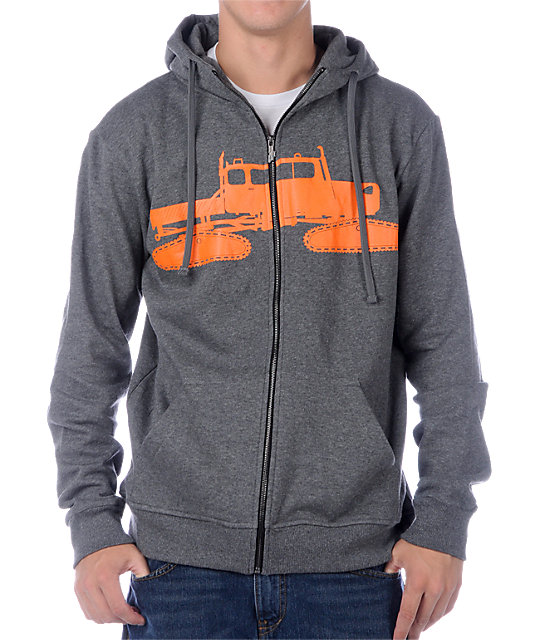 Spacecraft Cat Grey Hoodie