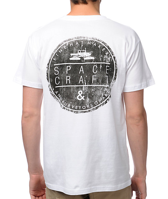 Spacecraft Circle Logo White T-Shirt