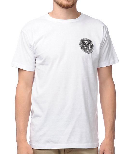 Spacecraft Circle Logo White T-Shirt