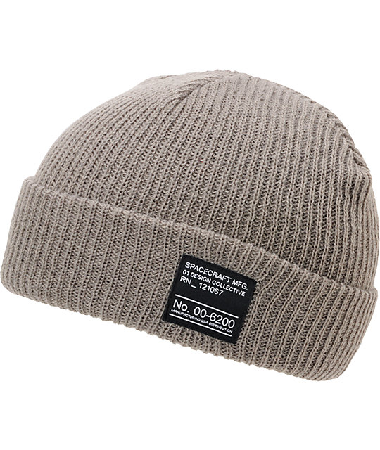Spacecraft Dock Grey Cuff Beanie