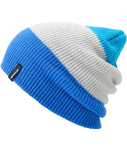 Spacecraft Offender Blue & Grey 3 Stripe Beanie