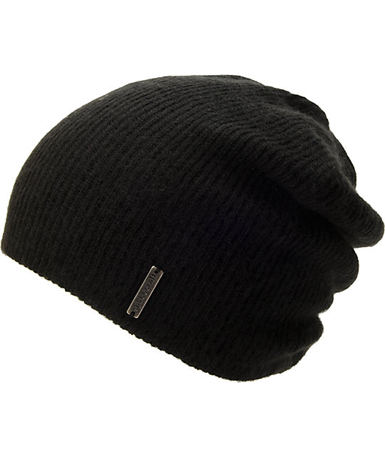 Spacecraft Quinn Black Slouch Beanie