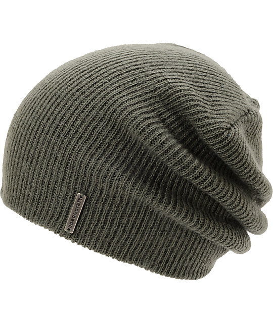 Spacecraft Quinn Charcoal Grey Slouch Beanie