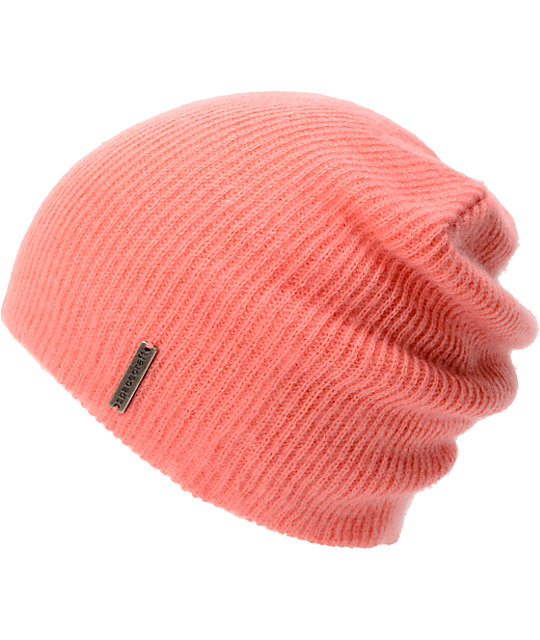 Spacecraft Quinn Pink Slouch Beanie