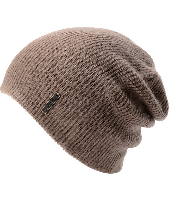 Spacecraft Quinn Smoke Grey Slouch Beanie