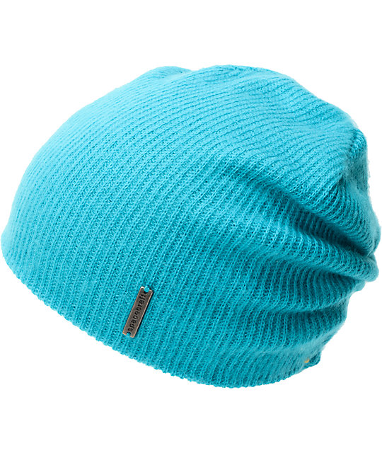 Spacecraft Quinn Teal Slouch Beanie