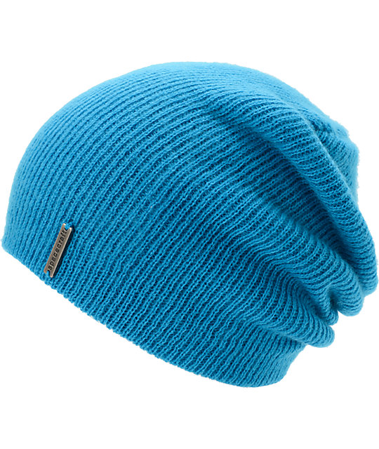 Spacecraft Quinn Turquoise Blue Slouch Beanie