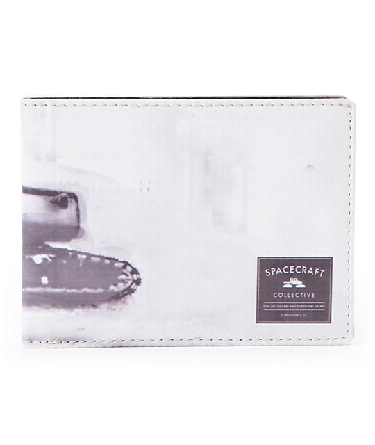 Spacecraft Snowcat Pin Up Bifold Wallet
