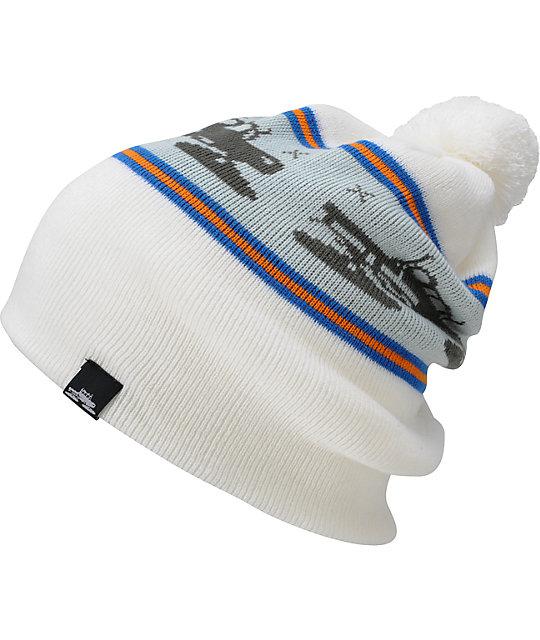 Spacecraft Snowcat White Pom Beanie