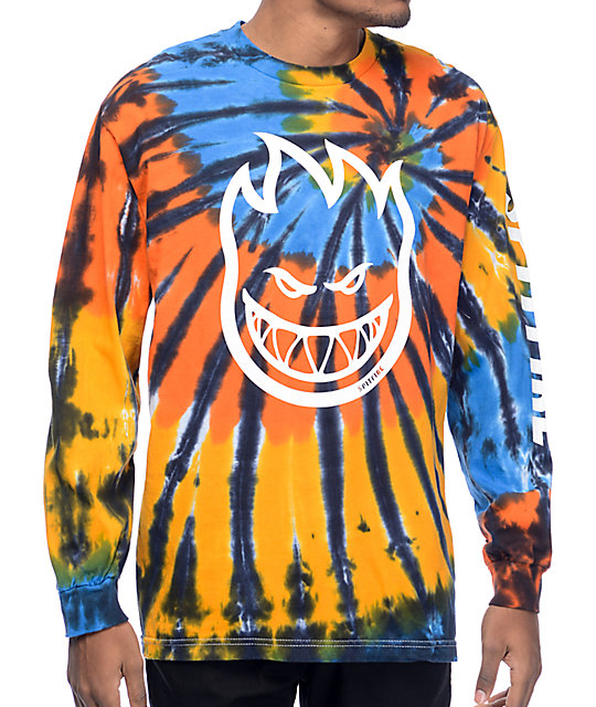Spitfire Big Head Hombre Tie Dye Long Sleeve T Shirt by Spitfire