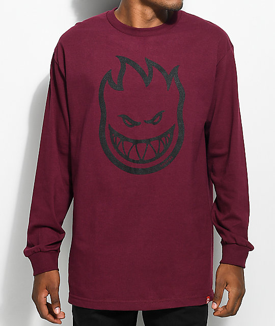 Bighead Burgundy Long Sleeve T-Shirt