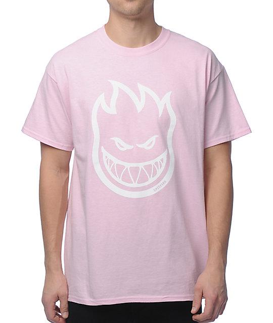 Spitfire Bighead Pink T-Shirt   Zumiez