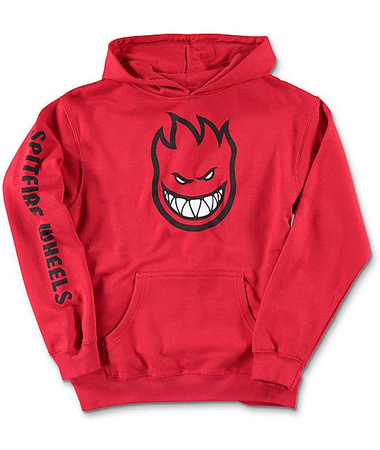 spitfire hoodie kids. spitfire boys bighead full sleeve red hoodie kids t
