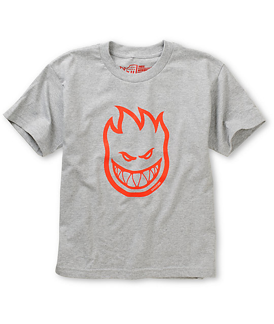 Spitfire Boys Bighead Grey & Red T-Shirt