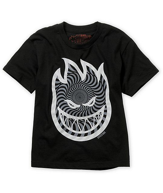 Spitfire Boys Bighead Swirls Black T-Shirt