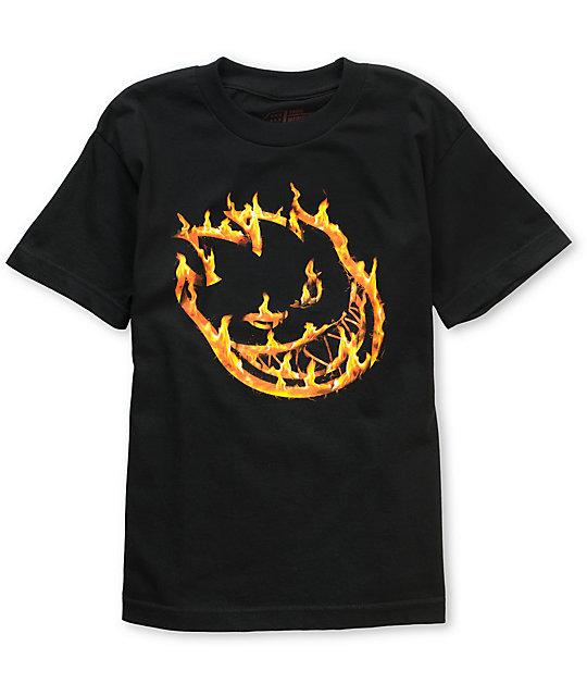 Spitfire Branded Boys Black T-Shirt