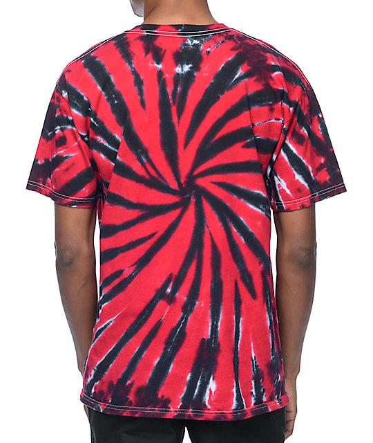 Spitfire classic bighead black red tie dye t shirt zumiez for How to dye a shirt red
