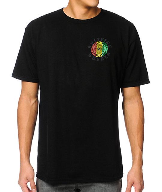 Spitfire Classic Rasta Black T-Shirt