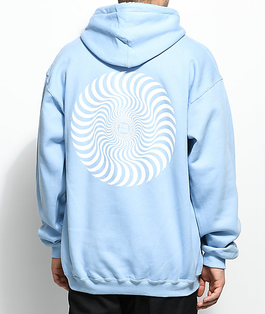 Spitfire Classic Swirl Light Blue & White Hoodie