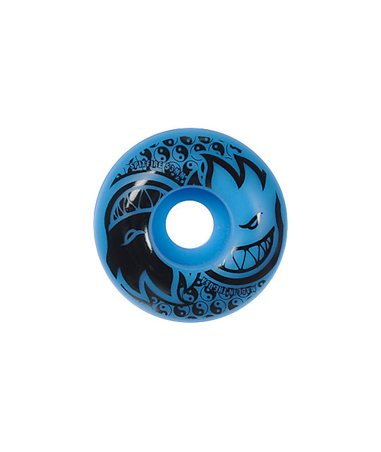 Spitfire Eternal Blue & Black 53mm Skateboard Wheels