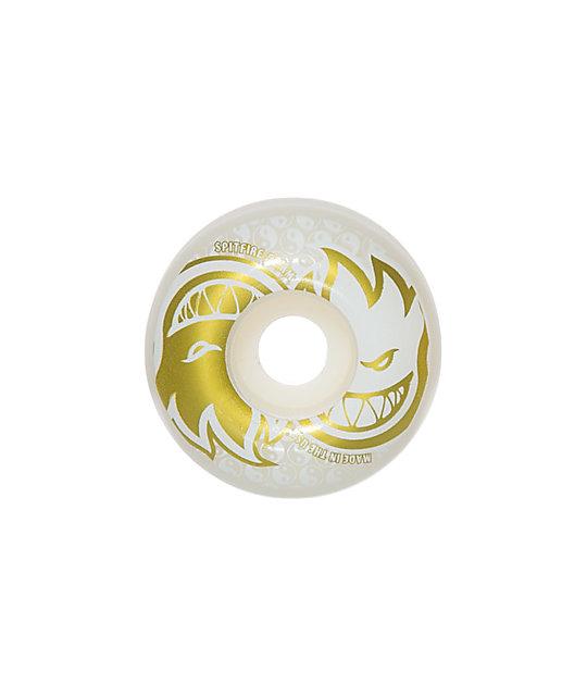 Spitfire Eternal White & Gold 54mm Skateboard Wheels