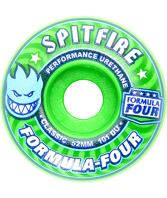Spitfire Formula Four 52mm 101a Gang Green Skateboard Wheels