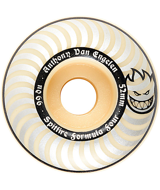 Spitfire Formula Four AVE Whiteout 52mm 99a Skateboard Wheels