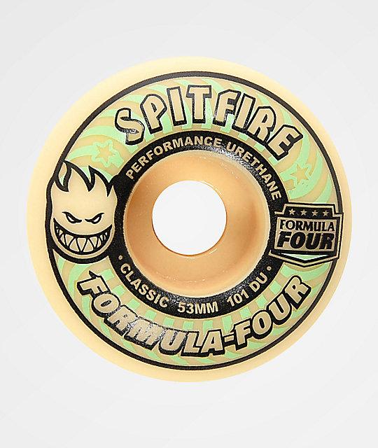 spitfire formula 4. spitfire formula four classic 53mm 101a glow in the dark skateboard wheels 4