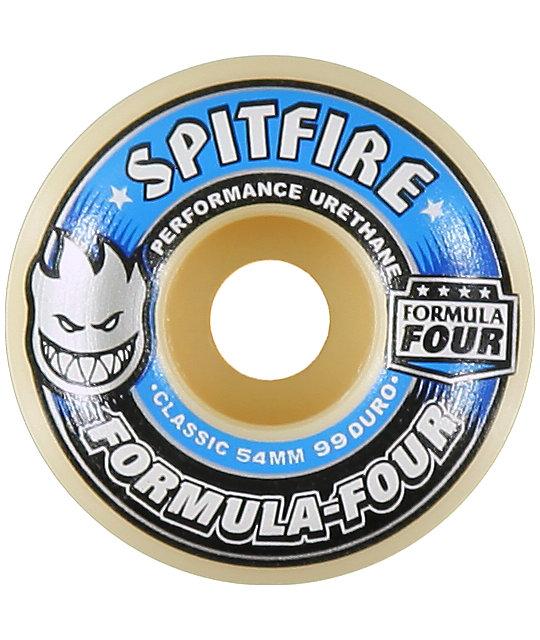 Spitfire Formula Four Classic Blue & White 54mm Skateboard Wheels