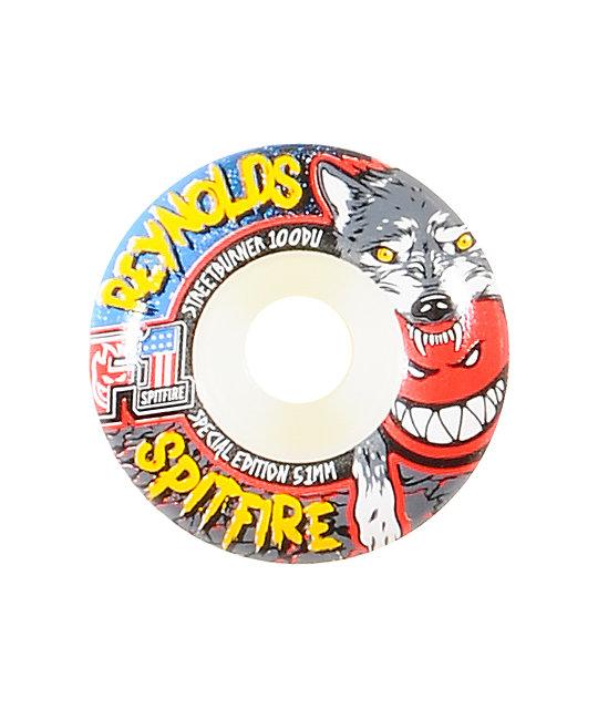 Spitfire Reynolds Wolfpack 51mm Streetburner Skateboard Wheels