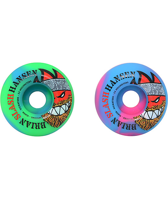 Spitfire Slash Signature Swirl 53mm Skateboard Wheels